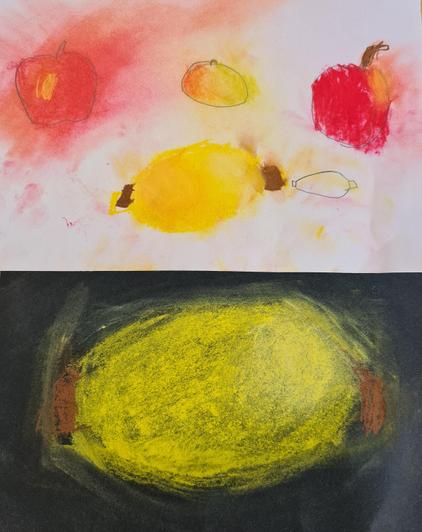 Gorgeous fruit in chalk pastel by Nye in Cypress