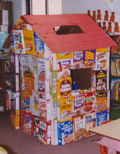If you have done your recycling for a while, the sky's the limit for cardboard play houses