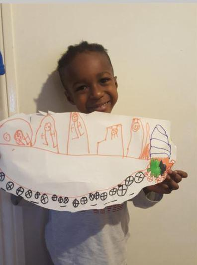 Ethan's amazing drawing of a car!