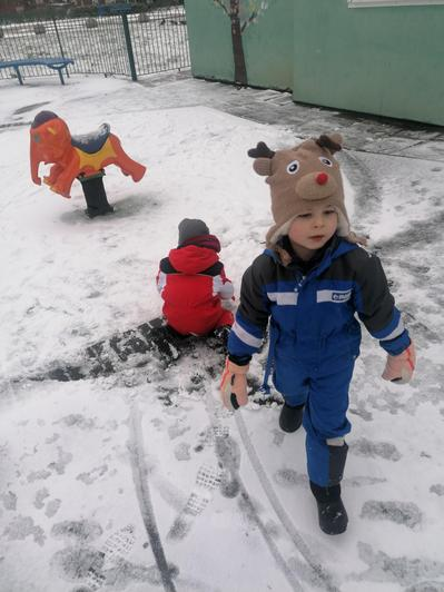 Nathan having fun in the snow!