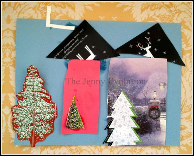 Cut up your old Christmas cards to make a wintery collage.