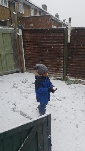 Ethan enjoying the snow!