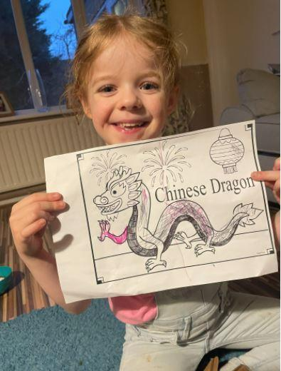 Ronnie's Chinese Dragon creation
