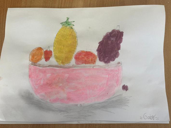 Love the shadow on this pink bowl by Gaby