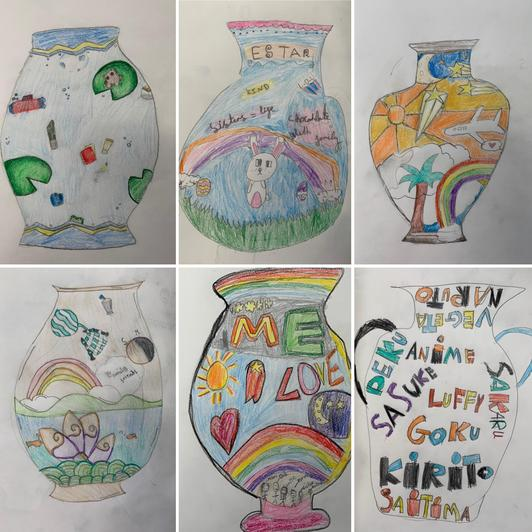 They designed their own pots inspired by the work of Grayson Perry