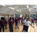 Performing our ancient Egyptian dance