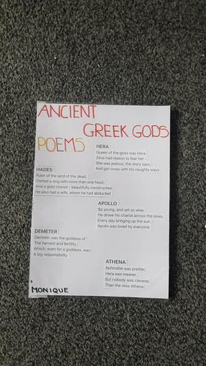 Monique's Ancient Greek Gods Poetry