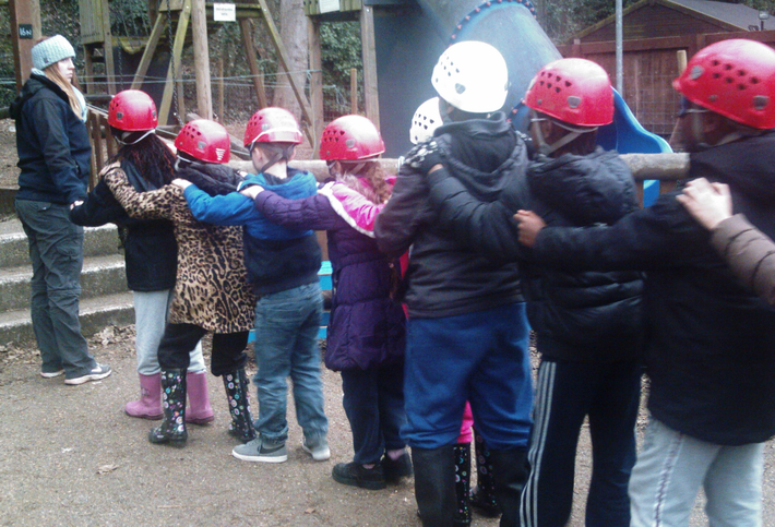 Team building on Yr4 school journey to Arethusa