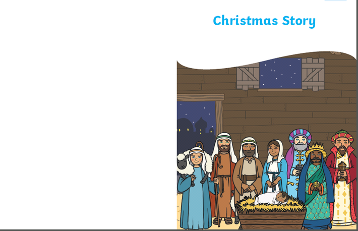 Download if you can and create your own Nativity book for R.E!