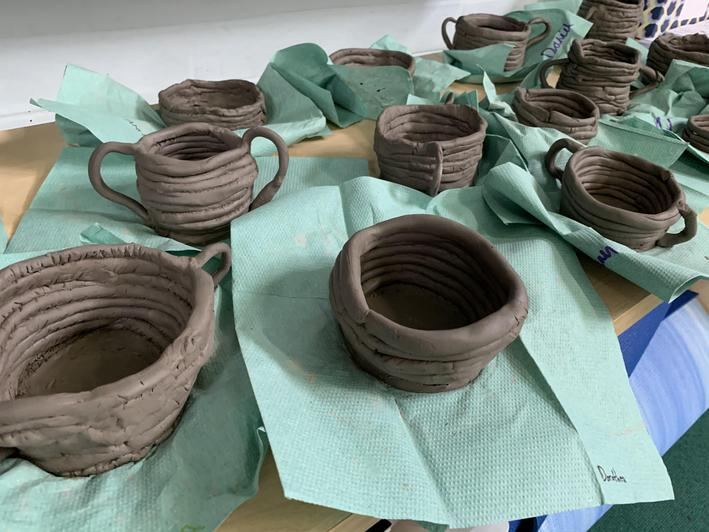 Some fantastic clay coil pots were made