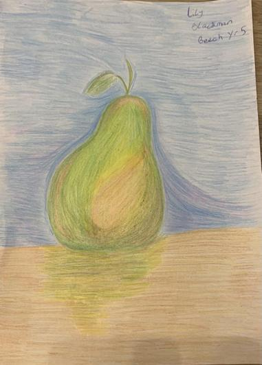 Lily from Beech also drew this perfect pair in colour pencil