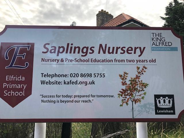 This is the Saplings Nursery sign.