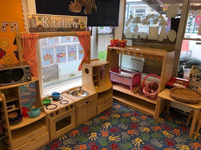 The Kitchen role play area.