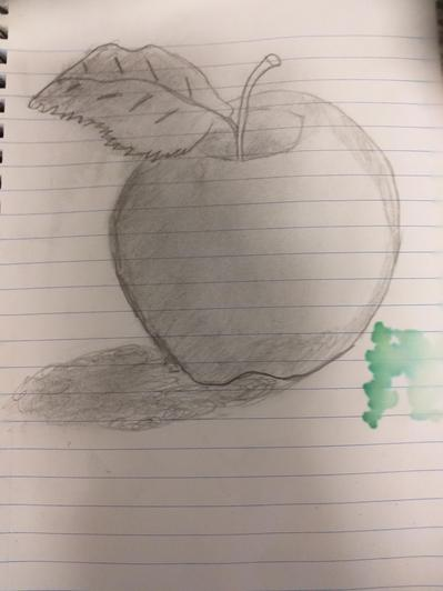 Super study of an apple with fantastic shading by Miles in Baobab