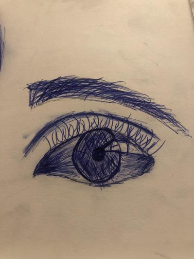 Wonderful eye in biro from Harley-Marie