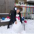 Zahra's gloved snowman
