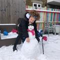 Zahra's gloved snowman