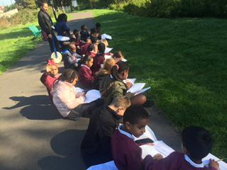 They enjoyed sketching the scenic parts!