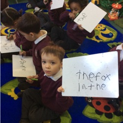 We've started to write sentences in Phonics!