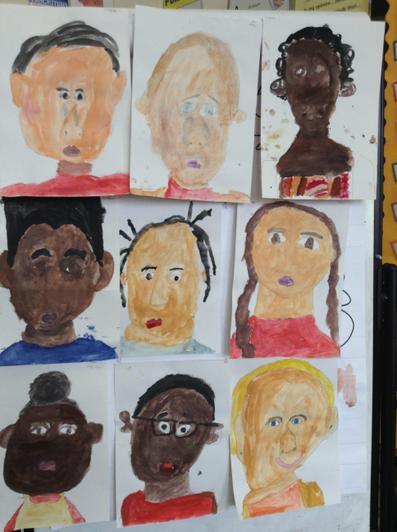 Self portraits from Maple Class