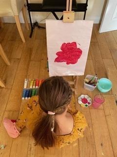 Sheryl's fantastic painting