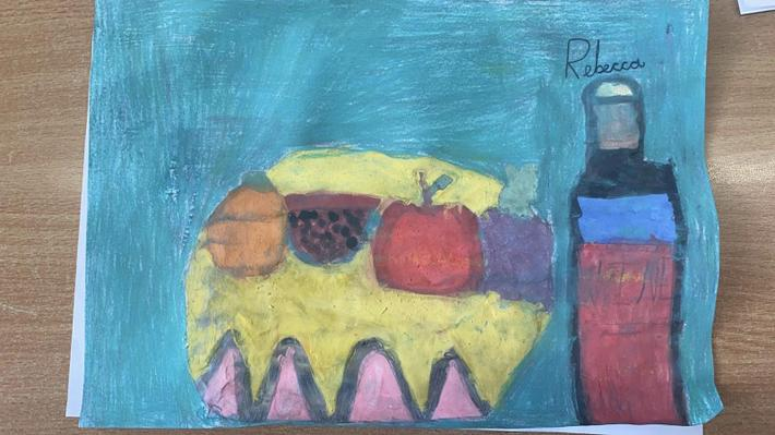 Fruit and wine by Rebecca in Cypress