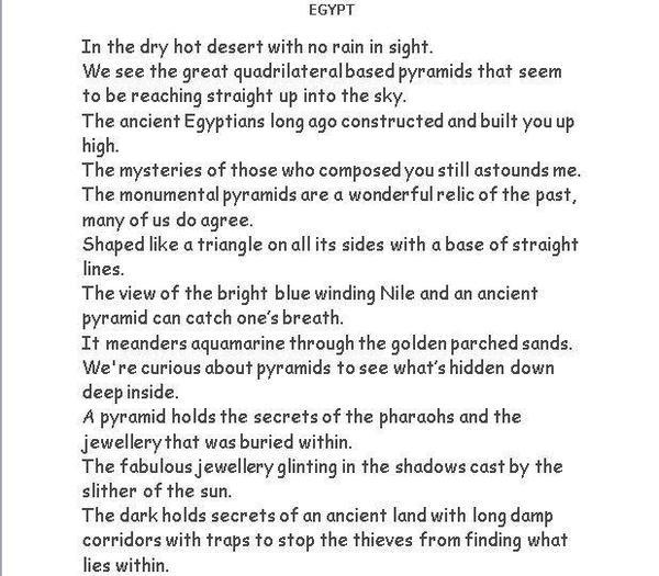 Egypt Poem
