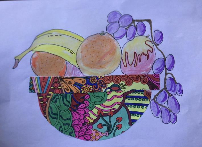 Beautiful details on the fruit and bowl by Gracie in Boabab