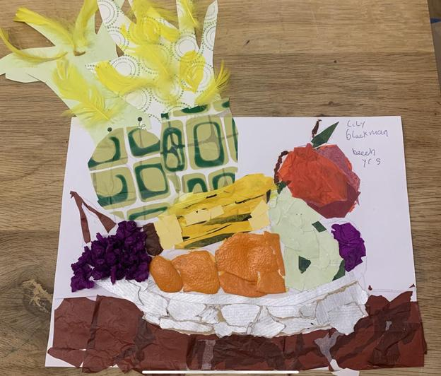 Wonderful textures in this collage by Lily in Beech