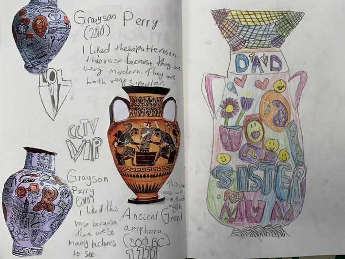 We compared Ancient Greek pottery with the work of contemporary artist Grayson Perry