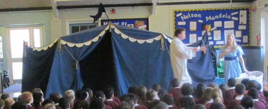 A theatre group helping celebrate world book week