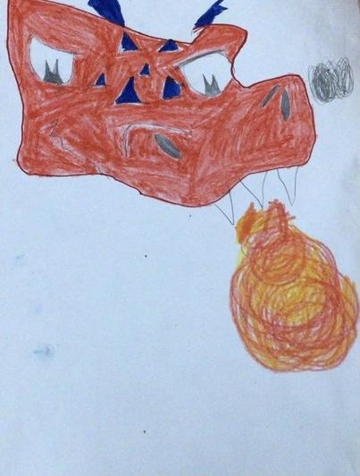 Fiery colours for this fire breathing dragon by Luke from Cypress