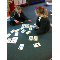 Ordering alphabet cards