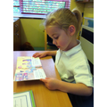 Lucy during Guided Reading