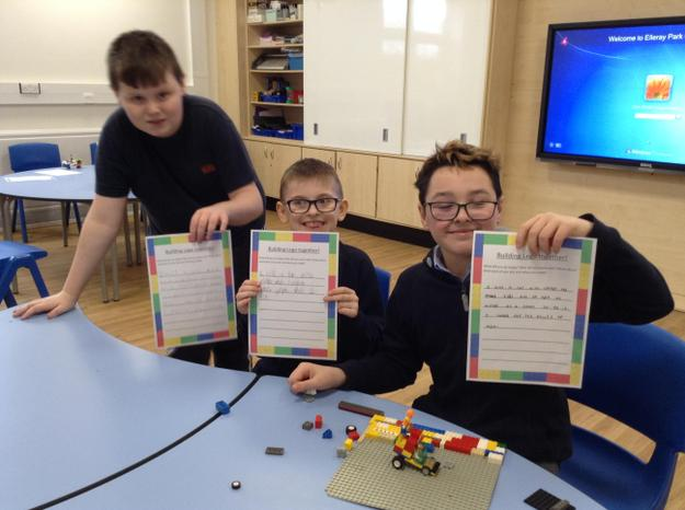 The boys wrote about what they made with Lego!
