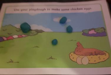 Playdough eggs