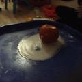 We watched a pumpkin experiment.
