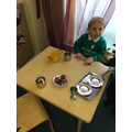 Humpty and the King's men made a delicious meal in role play!