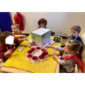 Working together to create our Dragon head