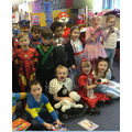 We enjoyed talking part in a World Book Day quiz.