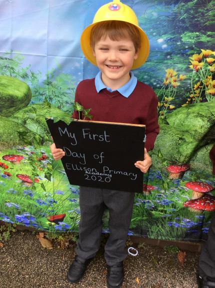 Our very first day at Ellison Primary Academy.