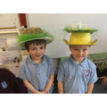We made football themed bonnets too!