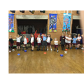 A class of posers - Year 1 dance lesson.