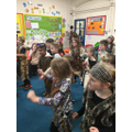 The 'Sid Shuffle' on our Stone Age day