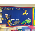Our topic wall. Look at our super animal paintings
