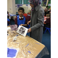 Our printing workshop with parents was lots of fun