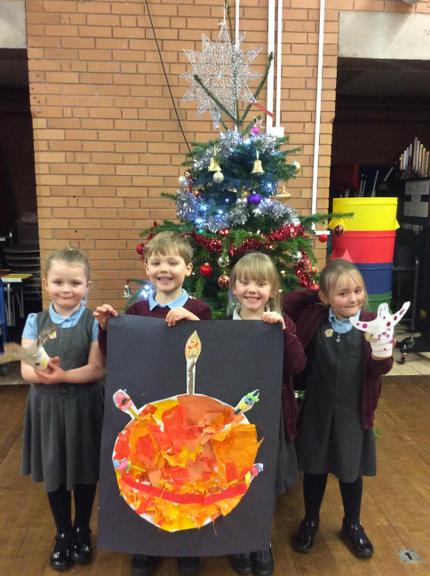 We learnt about the different parts of the Christingle.
