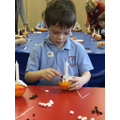 Making our Christingles.