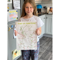 Mia's completed map of the UK