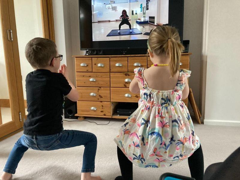 Leo and Emmie's workout